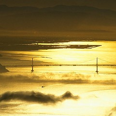 San Francisco Bay Bridge sunrise