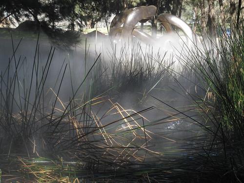 Across the swamp to the bronze