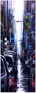 New York rain - canvas