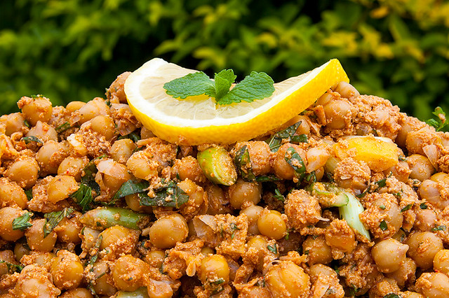 ... and harrisa roasted chickpeas tossed with fresh mint parsley and lemon
