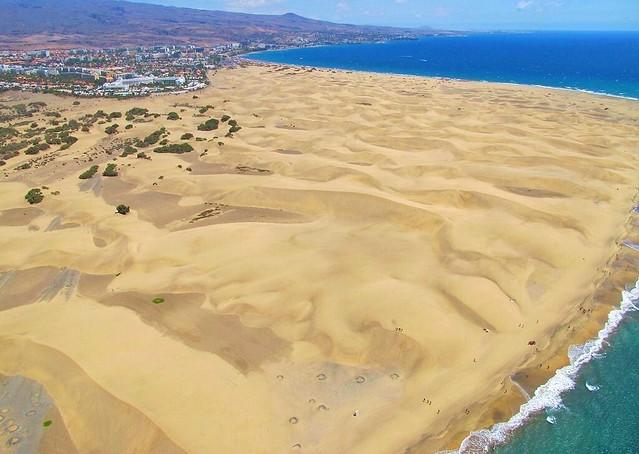 """Fotos Aéreas de las Dunas de Maspalómas.""""La Costa Turística de San Bartolomé de Tirajana"""" Gran Canaria"""