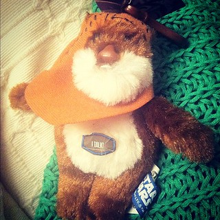 Ali bought me a talking ewok for being brave in my operation ^_^