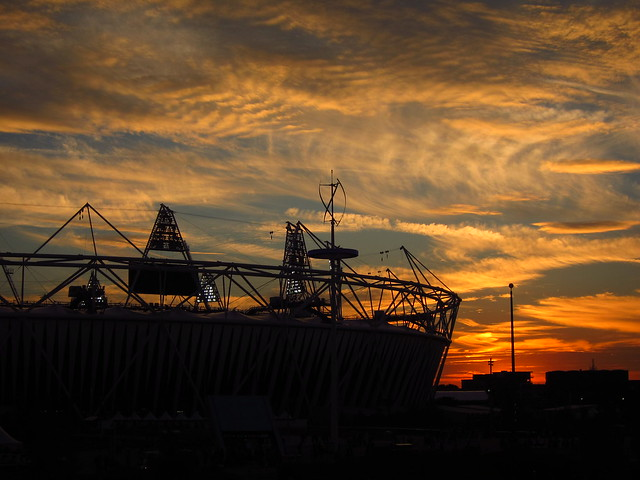 Sunset over Olympic Stadium