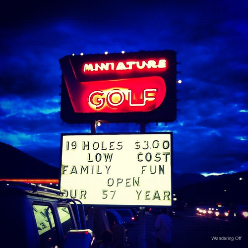 Miniature golf in Estes Park, CO