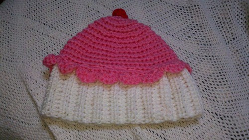 Cupcake Hat by MadewithLoveCrochet