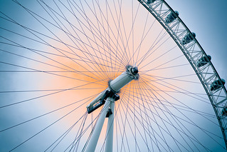 Like a bicycle wheel ...the London Eye