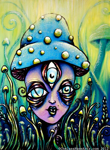 Mushroom Goddess, a glistening encounter