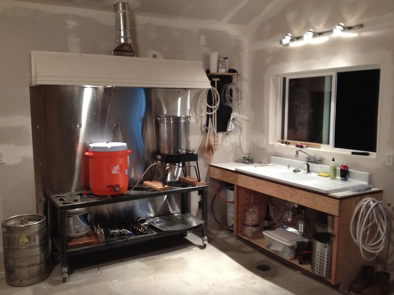 unveiling my brewery garage build home brew forums - Home Brewery Design