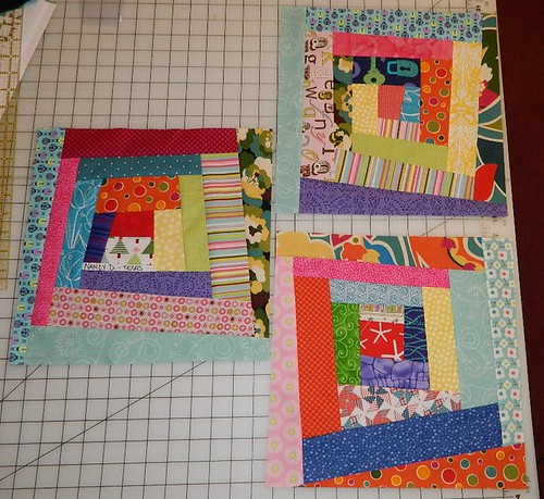 Wonky Log Cabin block for Lauren