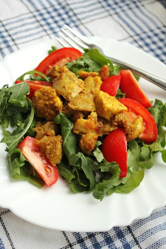 01 Warm curried chicken salad