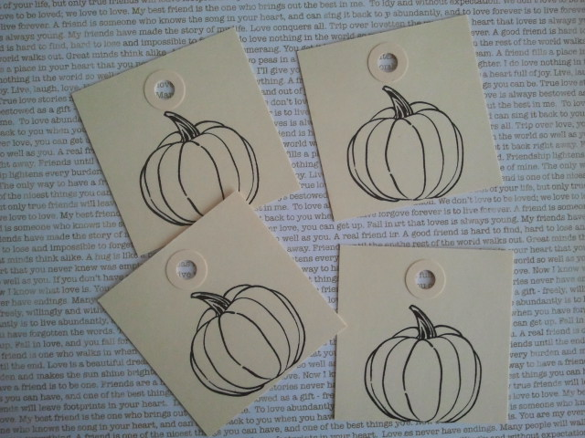 Pumpkin rubber stamp images
