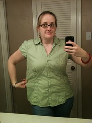 Green Blouse - Before
