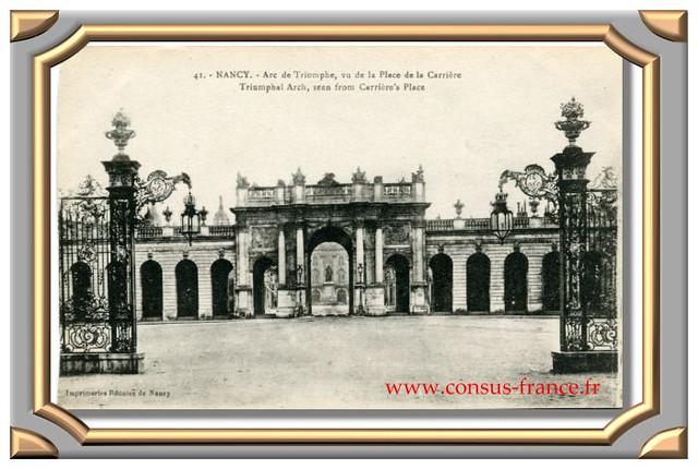40. - NANCY. - Arc de Triomphe, vu de la Place de la Carrière. -70-150