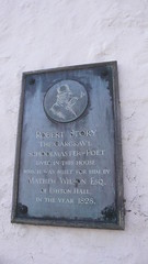 Photo of Robert Story, Matthew Wilson, and Edward Augustus Bowles black plaque