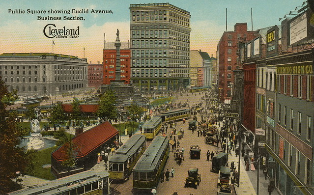 Public Square showing Euclid Avenue, Business Section