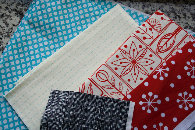 pouch project fabric combo