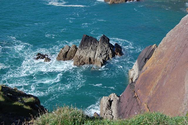 Sea and rocks at St Non's Bay