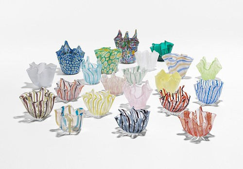 Murano, Collection of twenty-one Fazzolettis, 1969, Lot 169