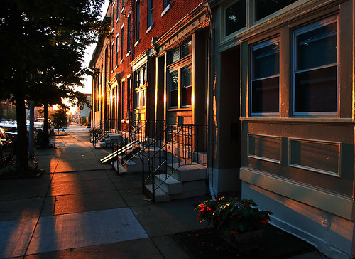 city morning urban usa philadelphia america sunrise glow unitedstates pennsylvania pa philly rowhouse rowhome fairmountavenue springgarden cityofbrotherlylove