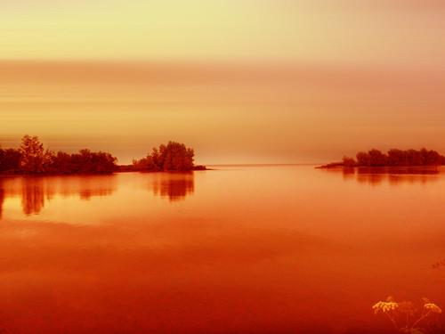 sunset holland water netherlands dutch nederland stillness ijsselmeer onderdijk vooroever