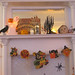 Halloween Mantel by valeriekathryn