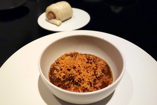 Rabbit Cassoulet with Black Truffle Bun