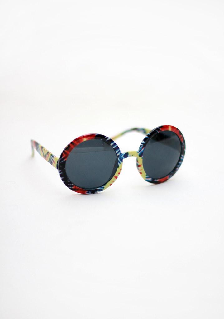 Tarte Vintage Tie-dye round sunglasses via shoptarte.com