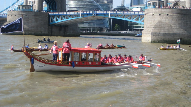 The Great River Race on London's Thames