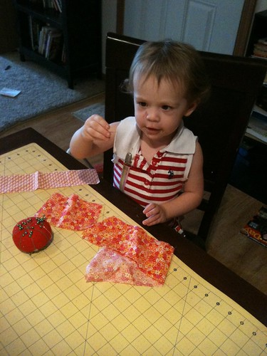 Sewing with toddlers