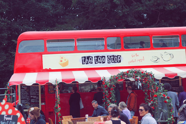 Tea bus Festival Number 6 Portmeirion Wales