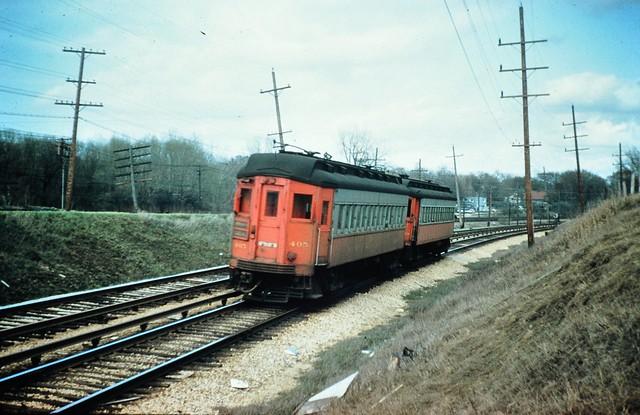 Chicago Aurora & Elgin  between Glen Ellyn & Wheaton IL 1956