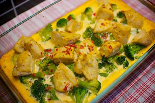 Broccoli och kycklinglåda