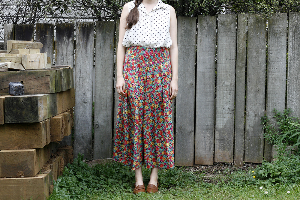 Floral Skirt: Before restyle vintage