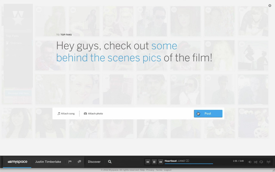 Glimpses of the new MySpace.