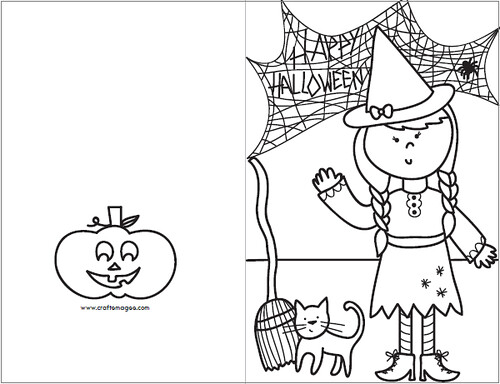 Smart image inside printable halloween card