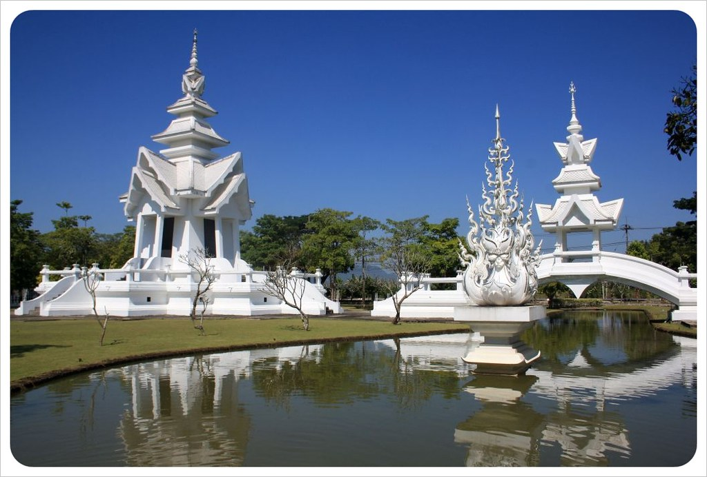 white temple pond & pavilion