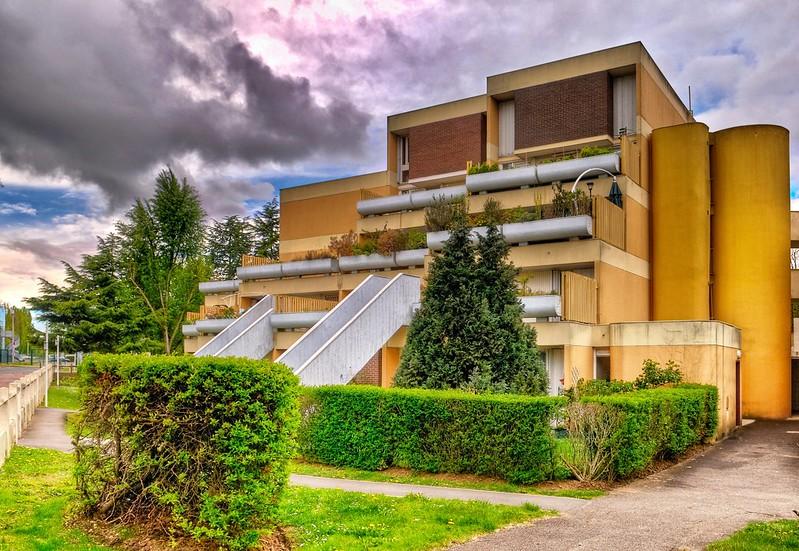 Evry Daily Photo - Quartier du Bras de fer - Allee du Pourquoi pas et allee Marco Polo - Architectes Andrault 1