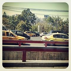 Taxiuri în Piaţa Unirii