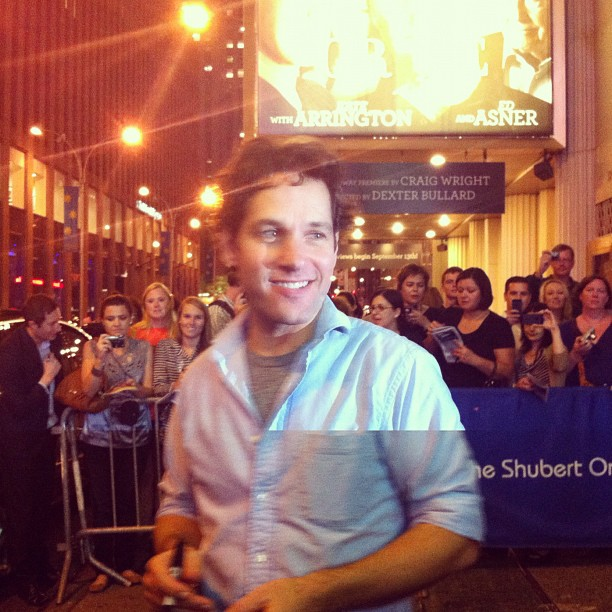 Paul Rudd at Cort theater NYC