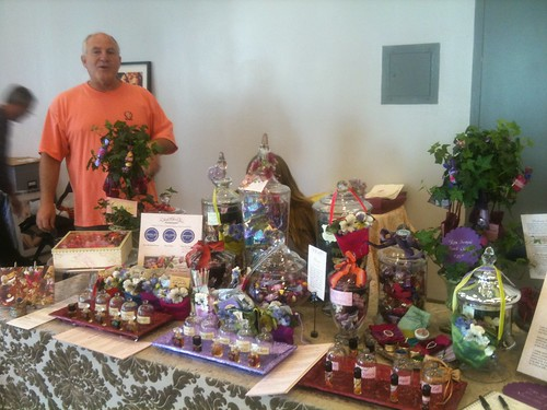 Gary at Velvet and Sweet Pea's table