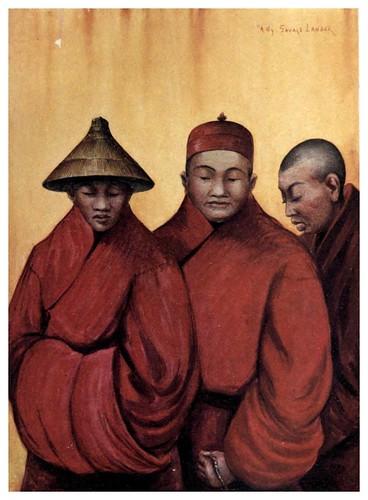 009-Lamas rojos-Tibet & Nepal-1905-A. H. Savage-Landor