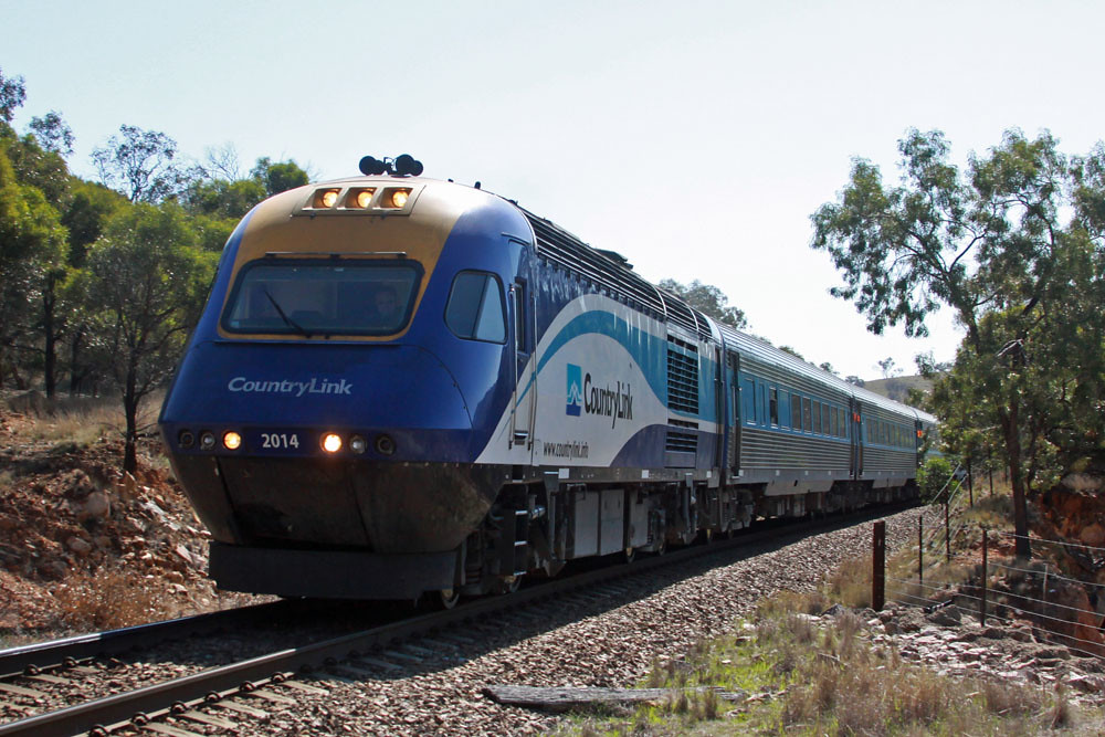 Sydney bound XPT across the top of Bethungra Spiral by Corey Gibson