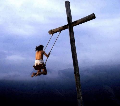 jesus on a cross swing