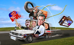 Mitt Mobile in the Final Stretch by DonkeyHotey
