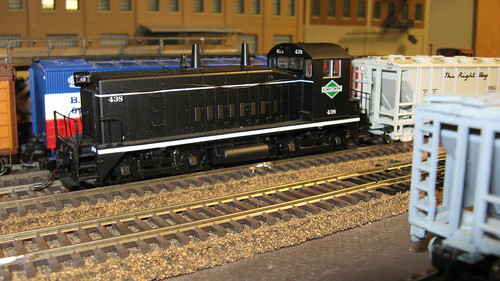 Illinois Central Railroad EMD SW 9 yard switcher in the black pre 1967 color scheme. by Eddie from Chicago
