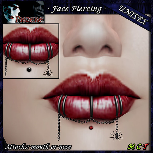 *P* Spider Mouth Piercing ~Pinch or Gem~