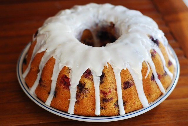 triple berry bundt cake blueberry, raspberry, blackberry with glaze