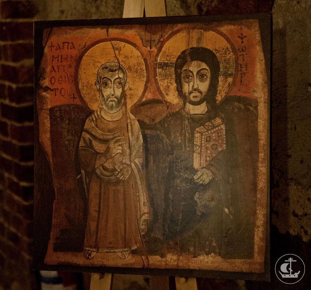 Святой Мина и Иисус Христос