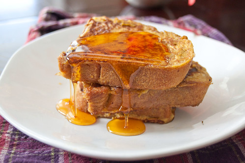 Pumpkin Pie French Toast Closeup