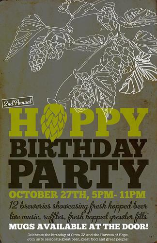 Hoppy Birthday @ Circa 33